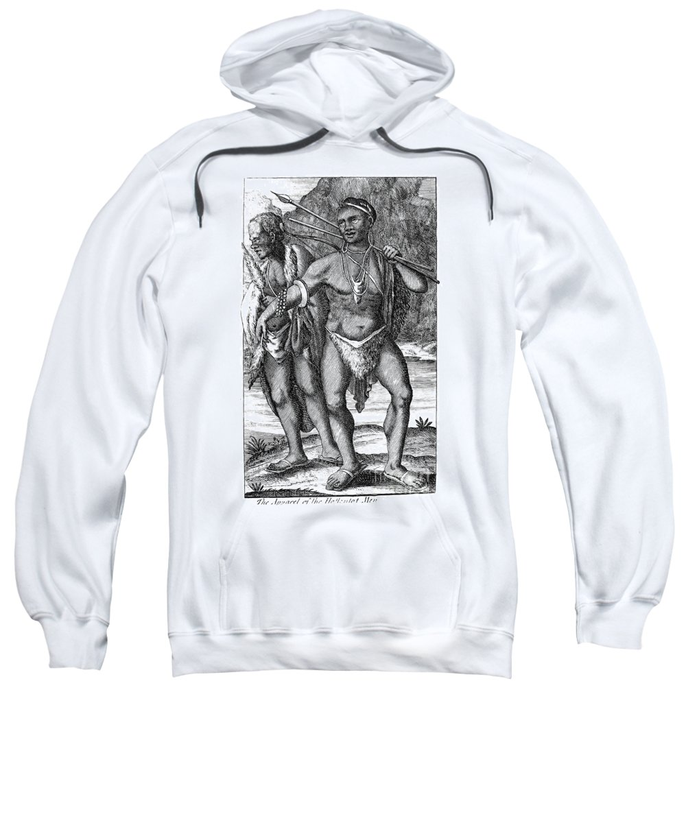 1731 Sweatshirt featuring the photograph South Africa: Hottetot Man by Granger