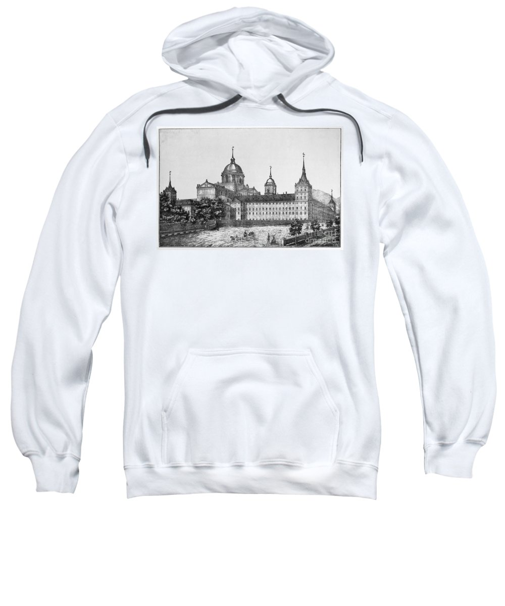 1860 Sweatshirt featuring the photograph Spain: El Escorial, C1860 by Granger