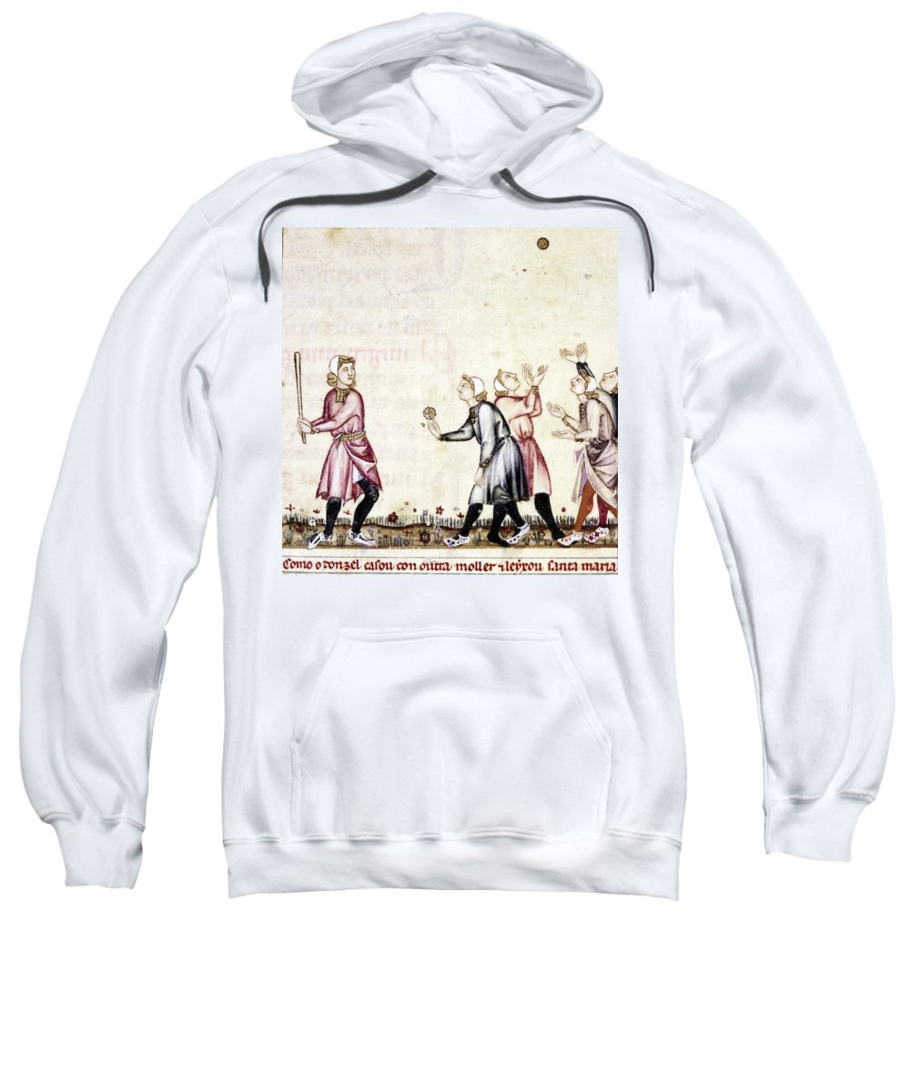 13th Century Sweatshirt featuring the photograph Spain: Medieval Ballgame by Granger