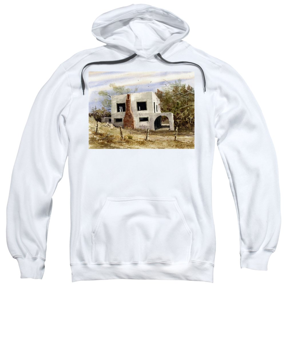 House Sweatshirt featuring the painting Spanish Mansion by Sam Sidders