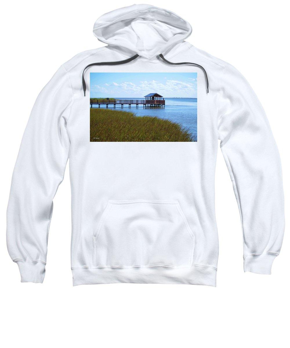 Roena King Sweatshirt featuring the photograph Spi Birding Center Boardwalk by Roena King