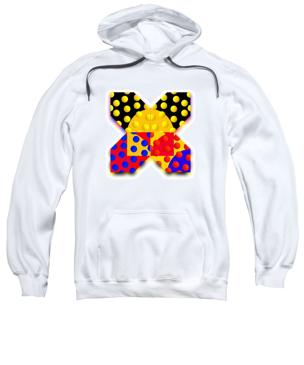 X Sweatshirt featuring the painting Sport Spot by Charles Stuart