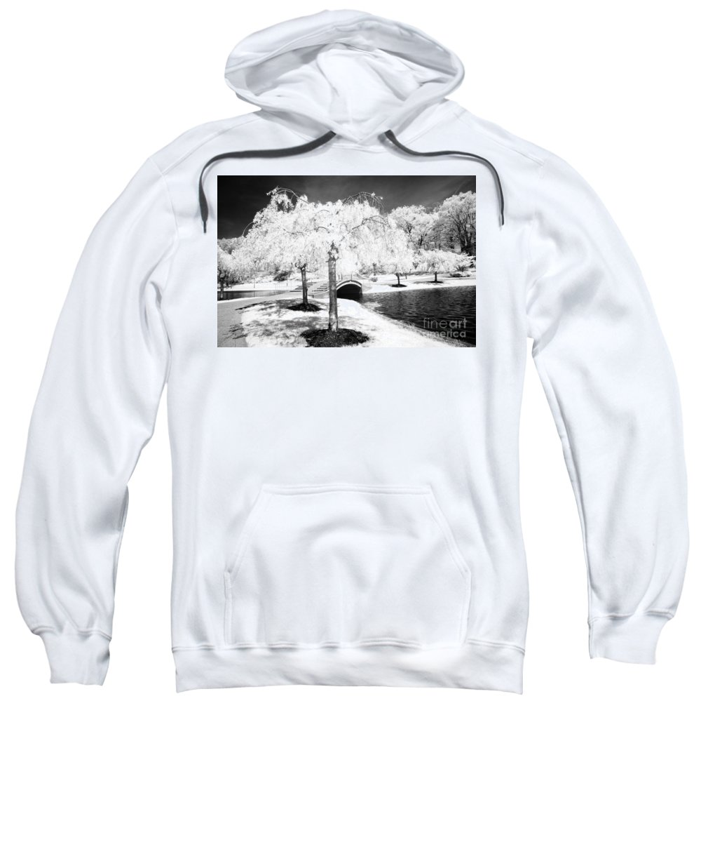 Infrared Sweatshirt featuring the photograph Spring In Infrared by Paul W Faust - Impressions of Light