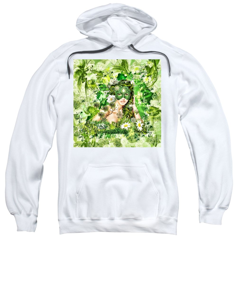 Spring Sweatshirt featuring the digital art Spring by Mo T