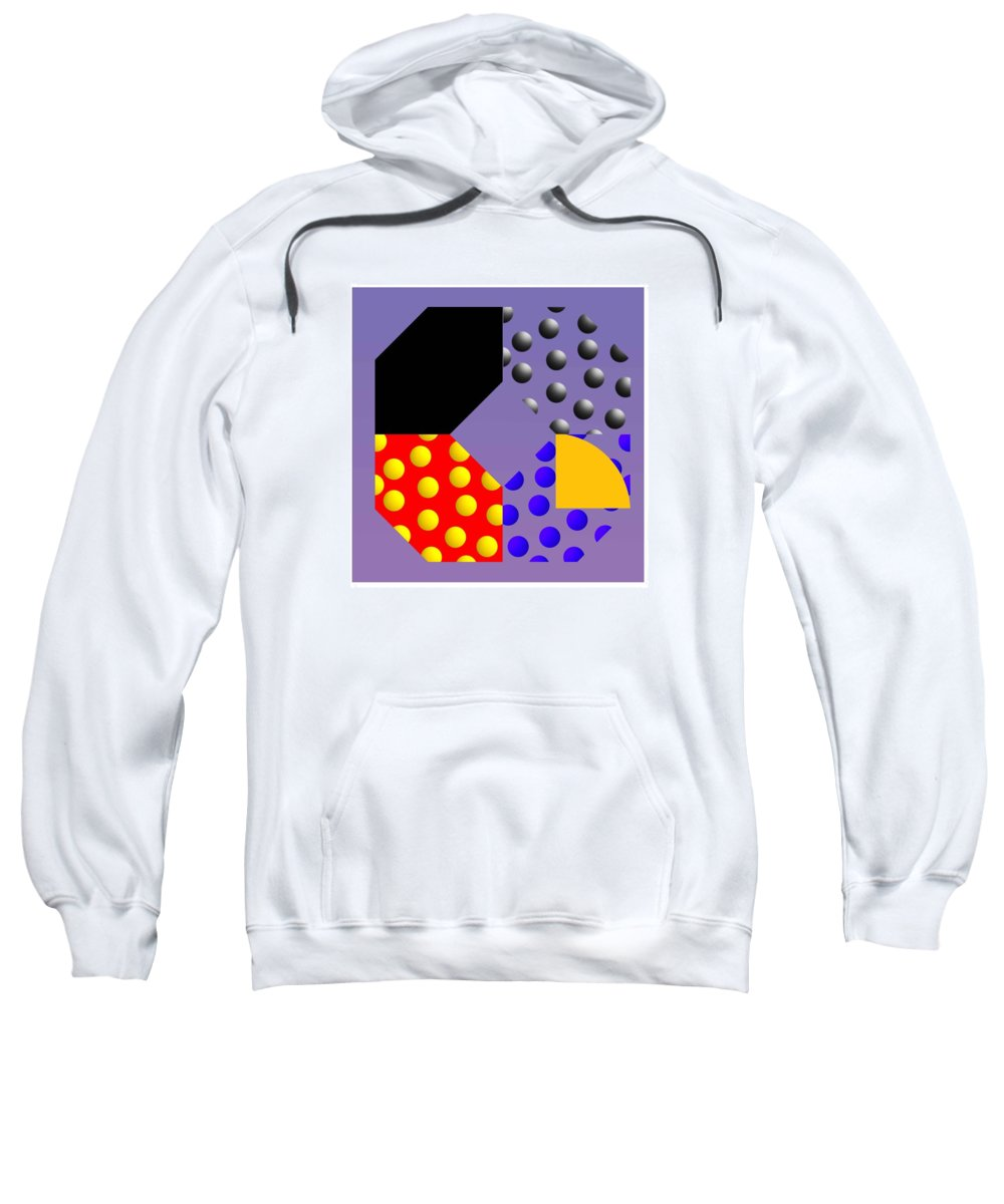 Abstract Sweatshirt featuring the painting Square Dance by Charles Stuart