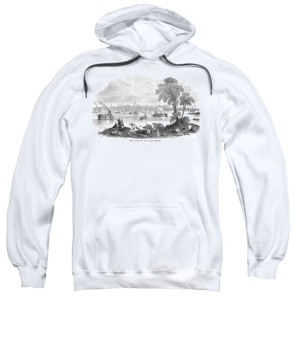 1854 Sweatshirt featuring the photograph St. Louis, Missouri, 1854 by Granger