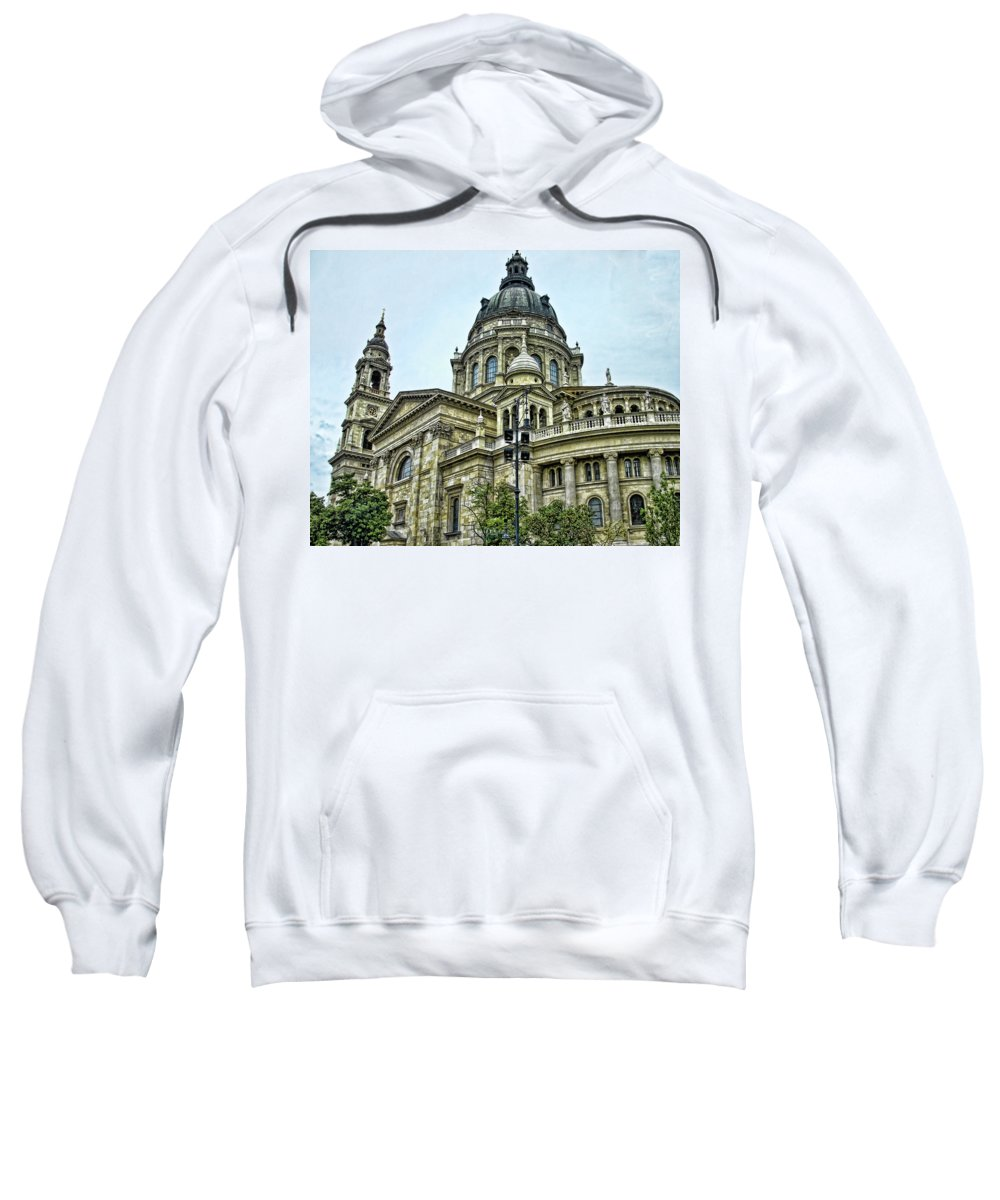 Budapest Sweatshirt featuring the photograph St Stephen Basilica  Budapest by Jon Berghoff