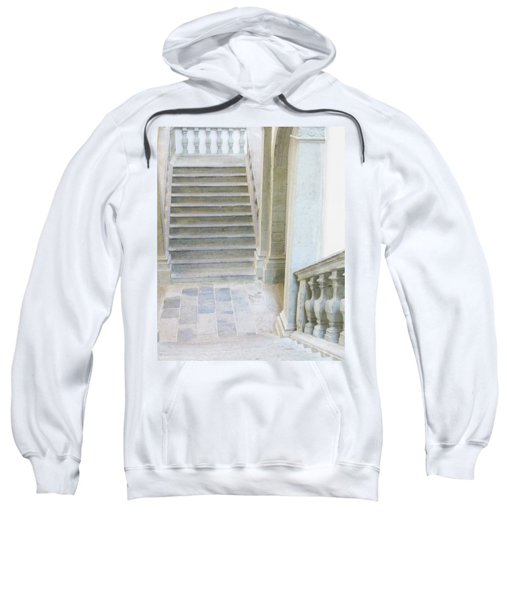 Stariway Sweatshirt featuring the photograph Stairway In Radovlica by Greg Matchick