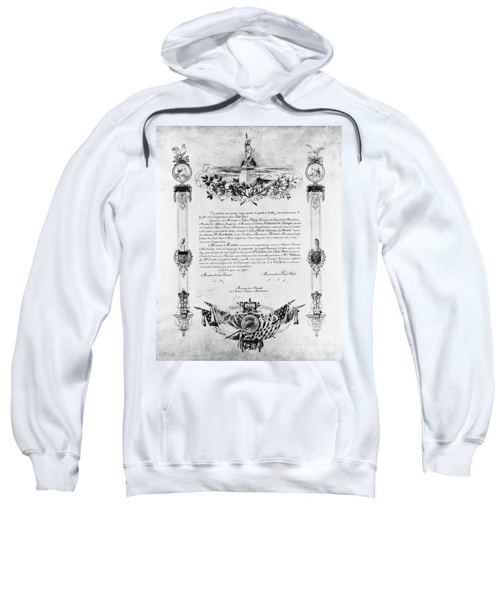 19th Century Sweatshirt featuring the photograph Statue Of Liberty: Deed by Granger