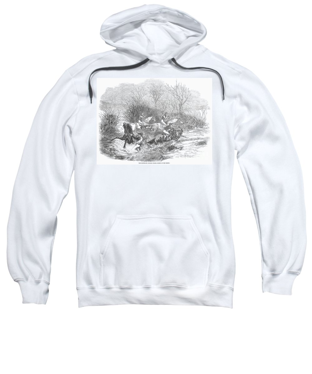 1847 Sweatshirt featuring the photograph Steeplechase, 1847 by Granger