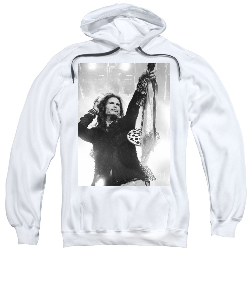 Steven Tyler Sweatshirt featuring the photograph Steven Tyler by Traci Cottingham