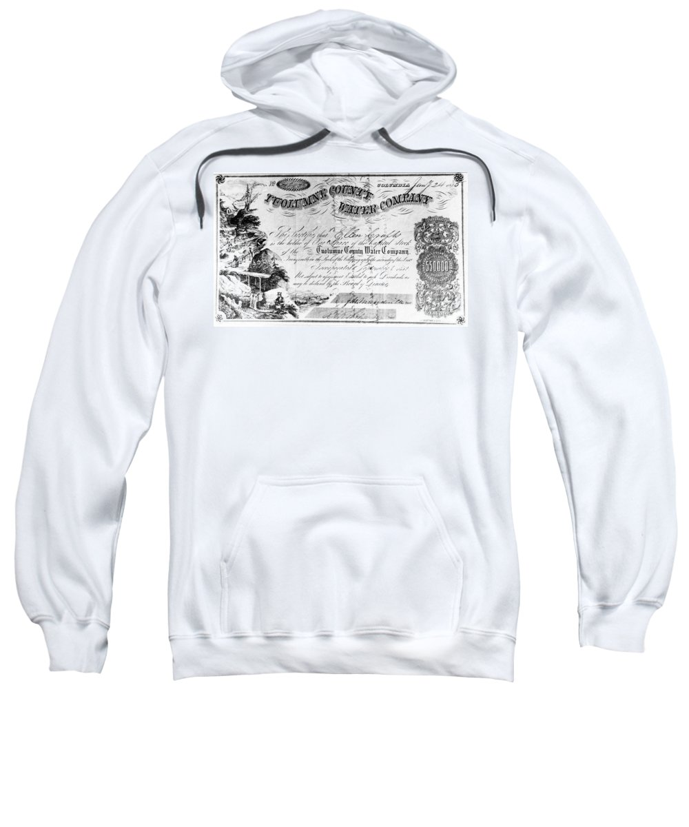 1853 Sweatshirt featuring the photograph Stock Certificate, 1853 by Granger