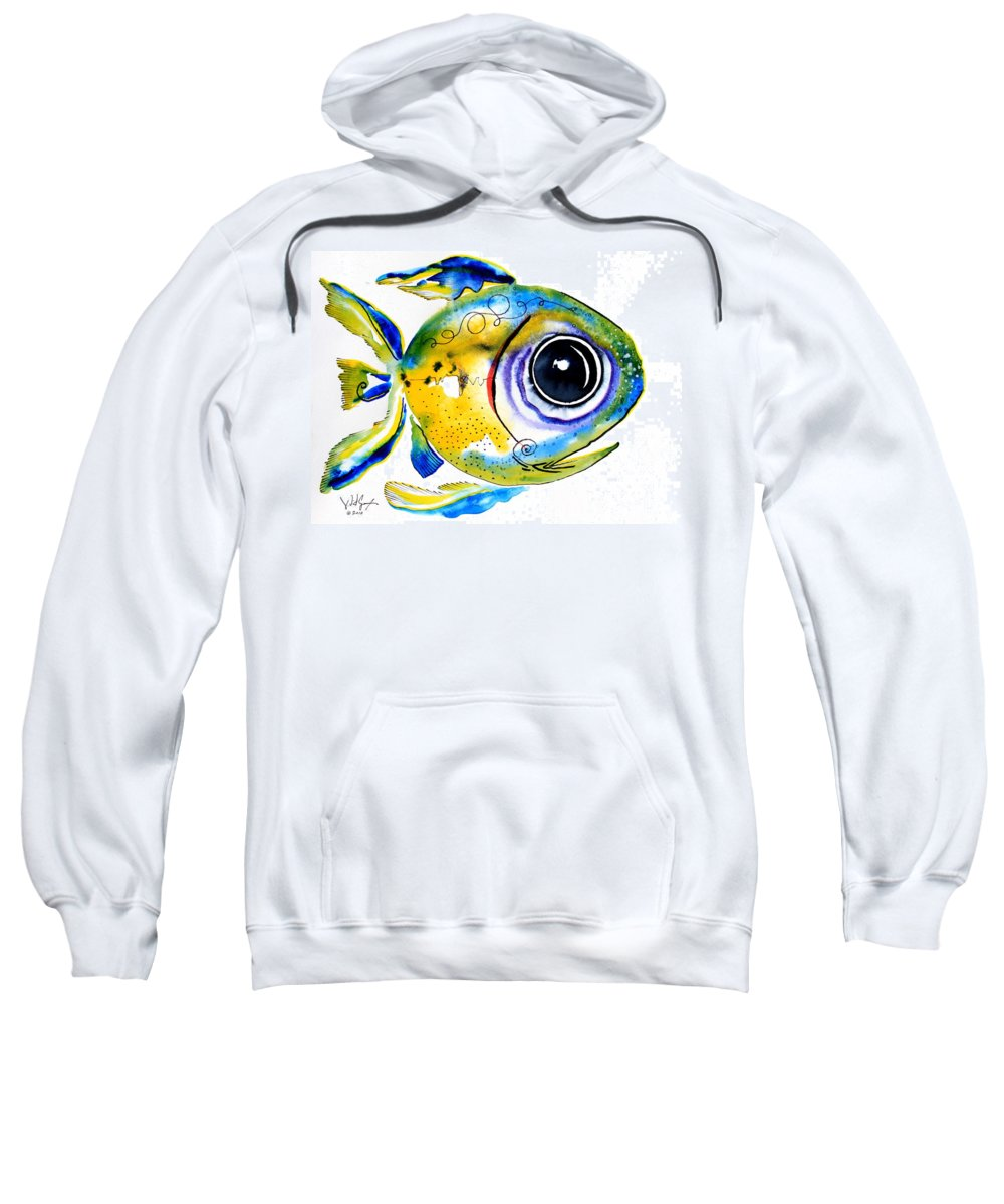 Fish Sweatshirt featuring the painting Stout Lookout Fish by J Vincent Scarpace