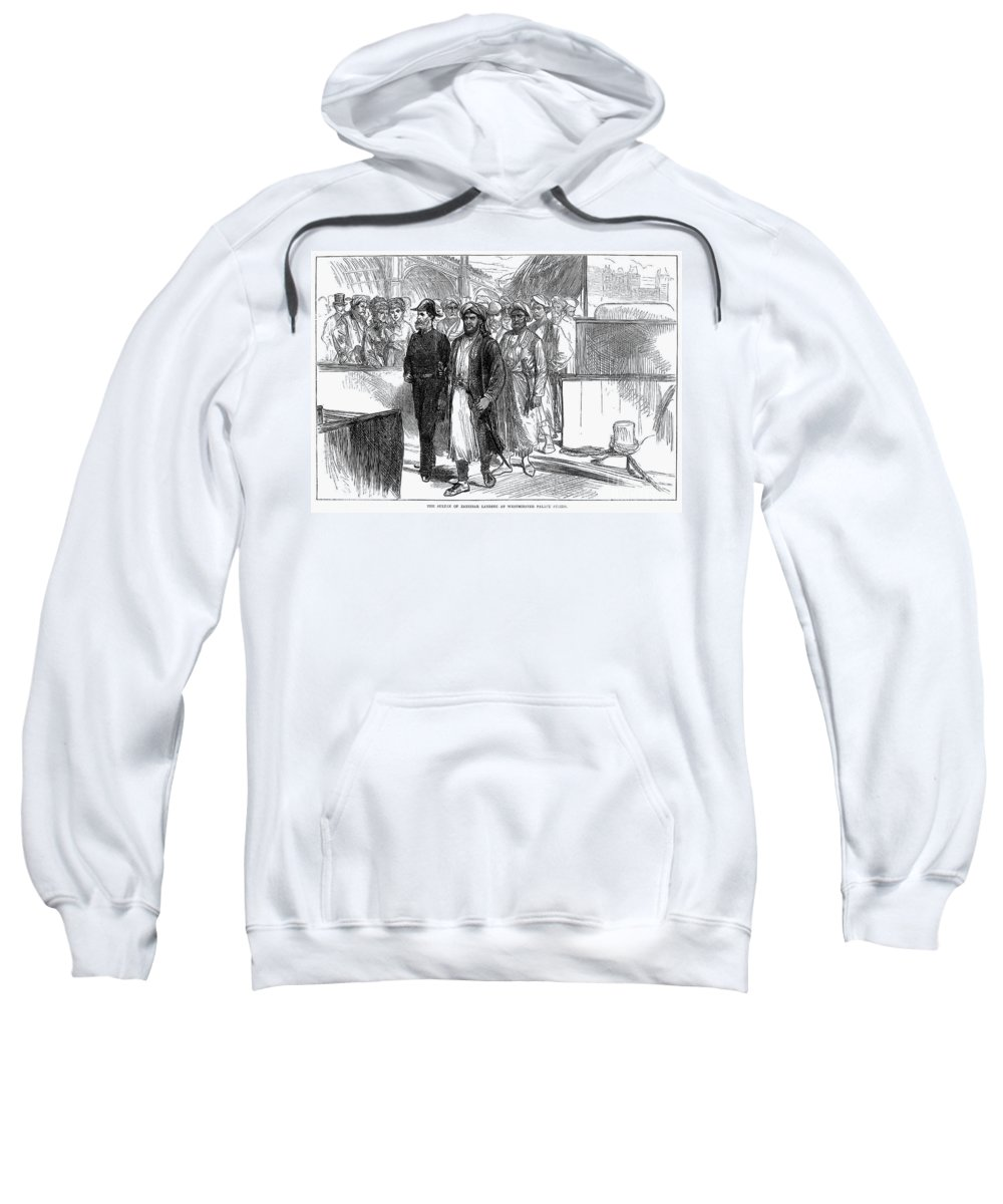1875 Sweatshirt featuring the photograph Sultan Of Zanzibar, 1875 by Granger
