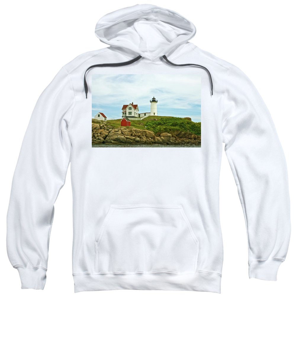 the Nubble Light Sweatshirt featuring the photograph Summer Afternoon At Nubble Light by Paul Mangold