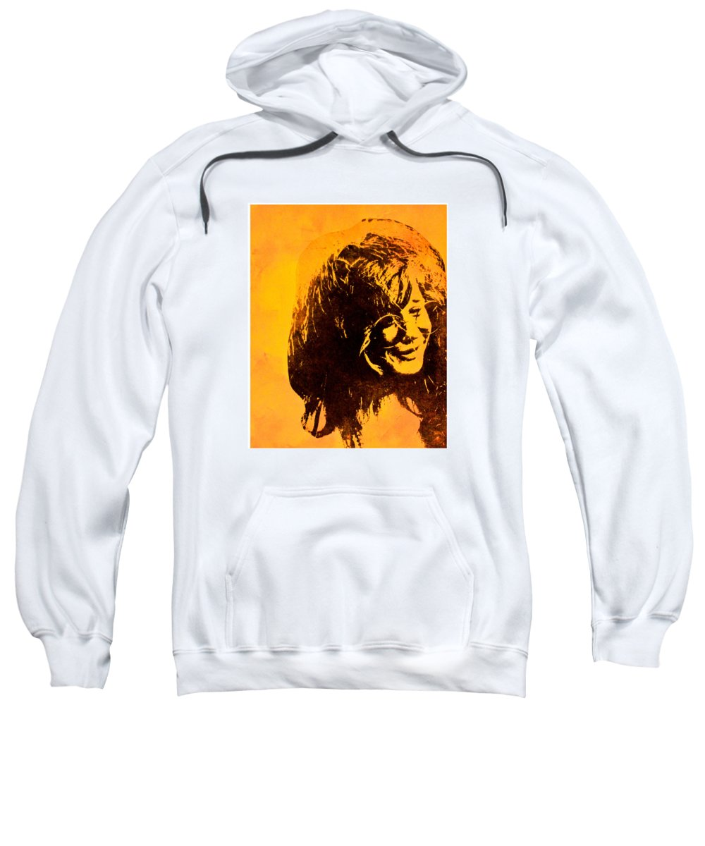 Janis Joplin Sweatshirt featuring the mixed media Summertime by Molly Picklesimer