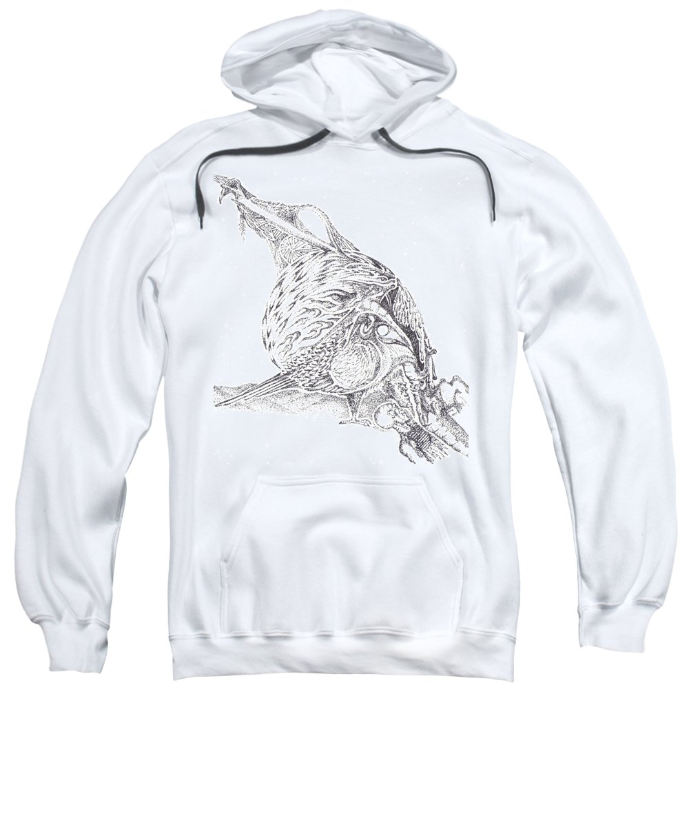 Pointalism Sweatshirt featuring the drawing Super Hero Ponders The Moment by Charles Kabrich