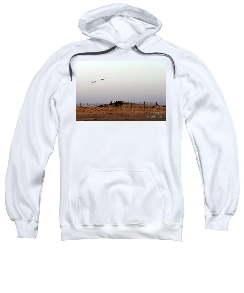 Usa Sweatshirt featuring the photograph Takeoff by Henrik Lehnerer