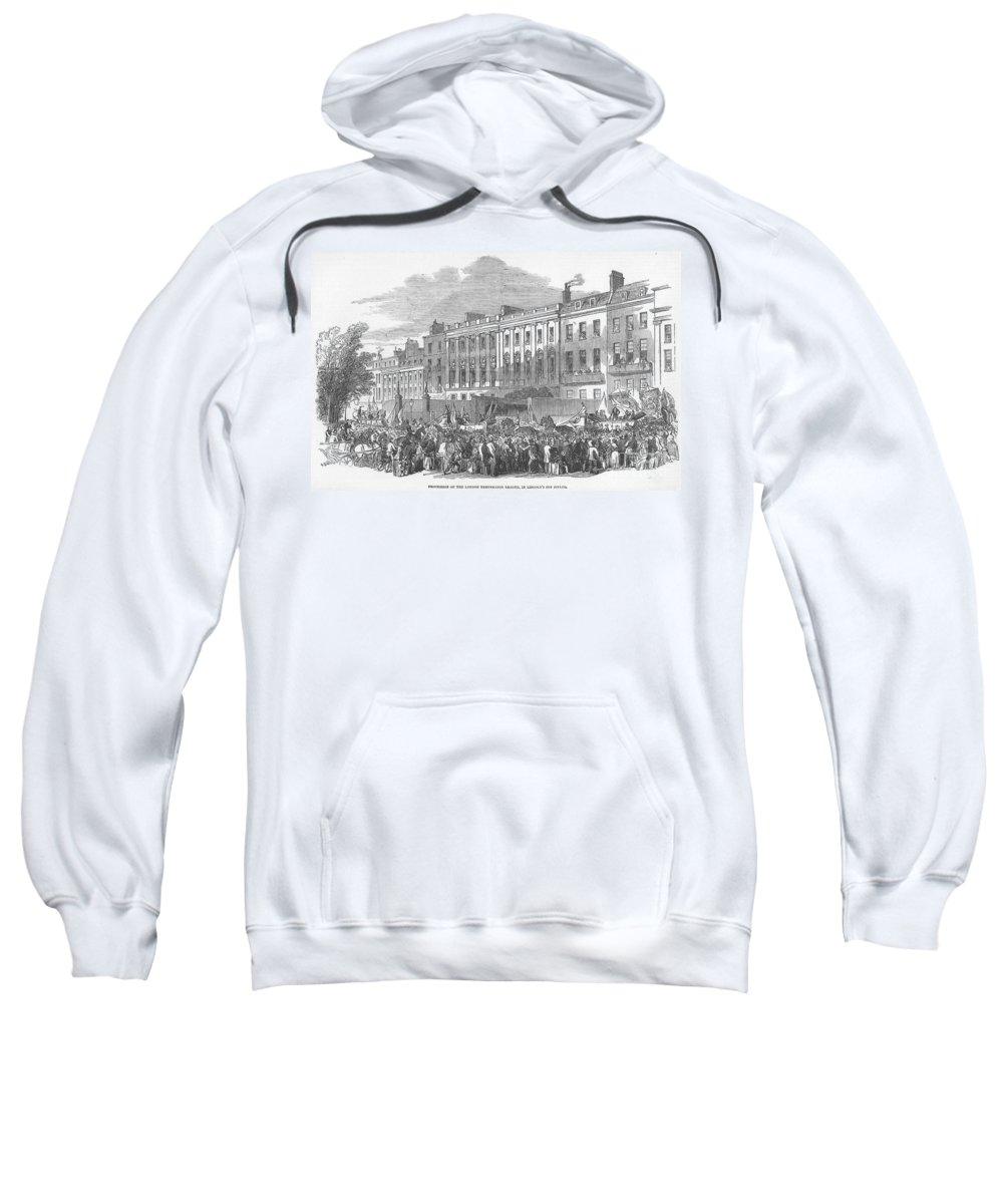 1853 Sweatshirt featuring the photograph Temperance Rally, 1853 by Granger