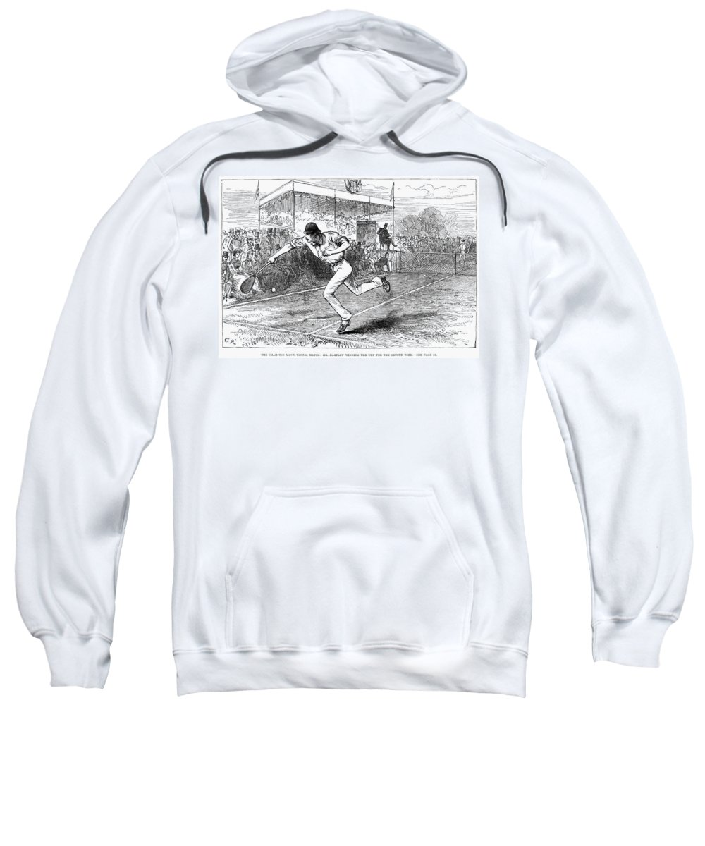 1880 Sweatshirt featuring the photograph Tennis: Wimbledon, 1880 by Granger