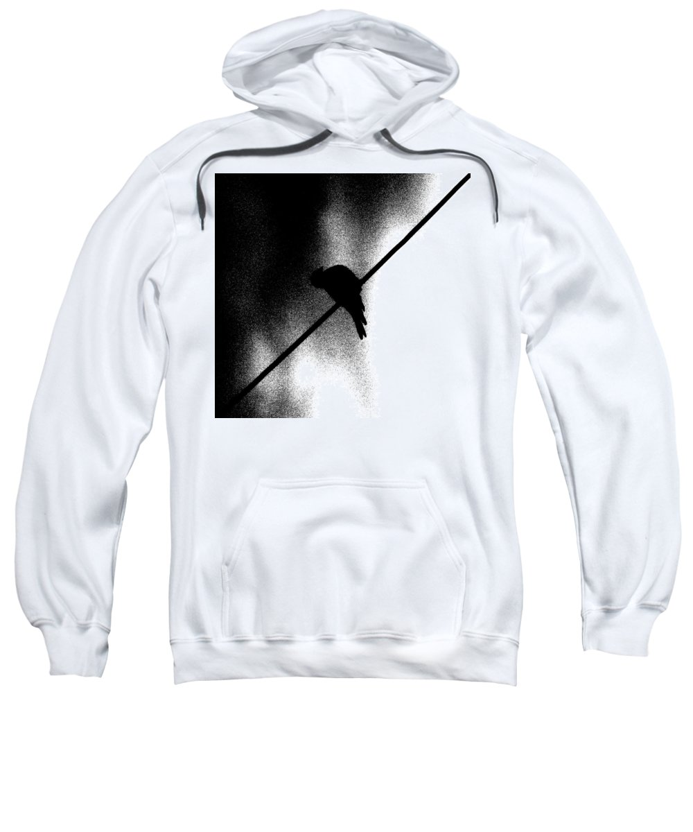 Sweatshirt featuring the photograph The Birdzzz by The Artist Project