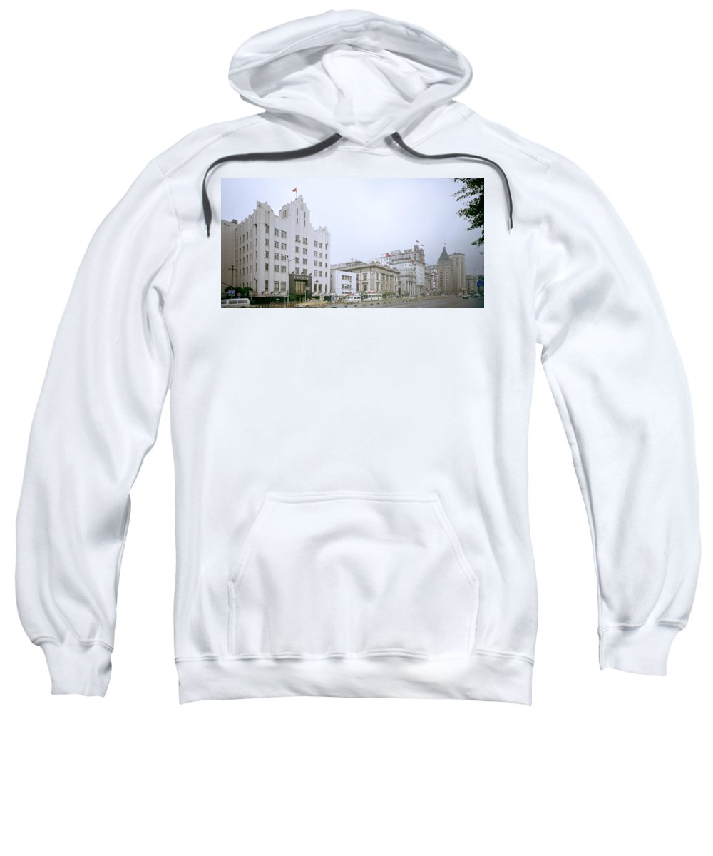 China Sweatshirt featuring the photograph The Bund In Shanghai In China by Shaun Higson