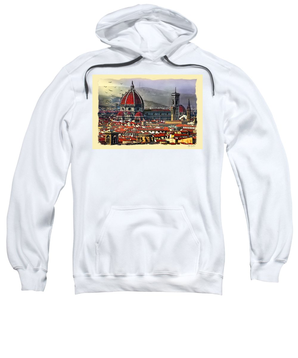 Duomo Sweatshirt featuring the photograph The City Of Florence by Maggie Magee Molino