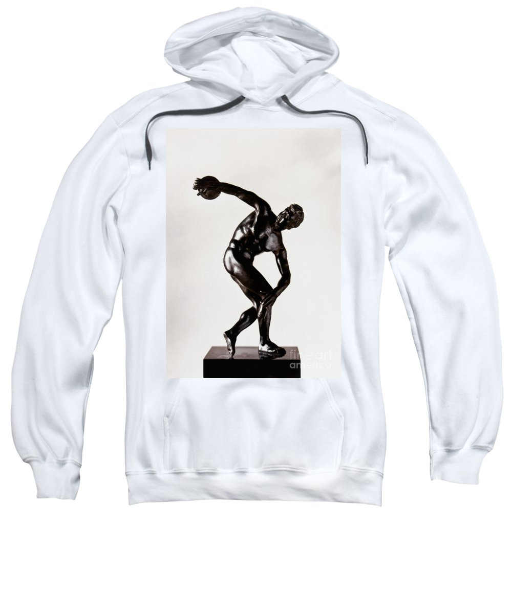 Bronze Sweatshirt featuring the photograph The Discobolus by Granger