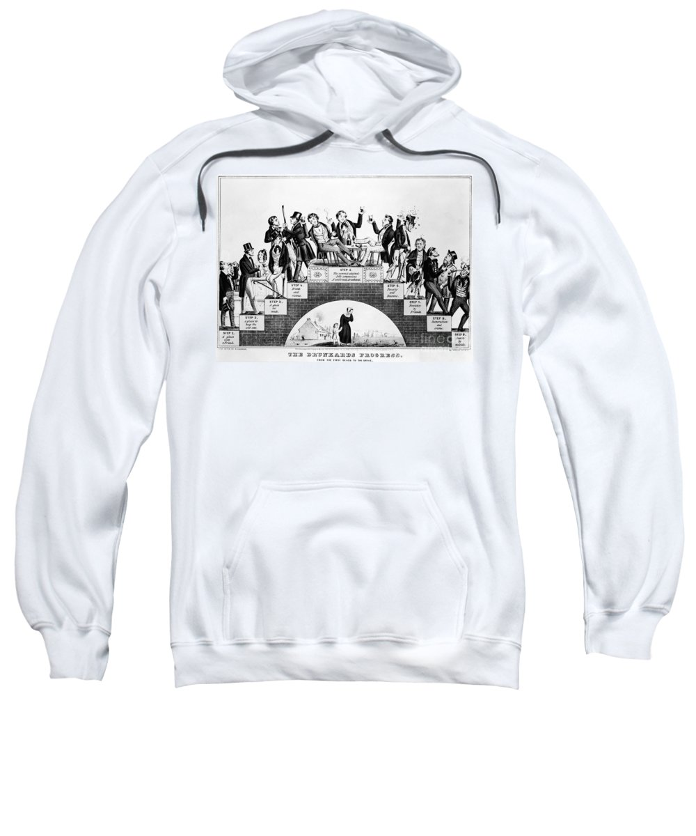 Illustration Sweatshirt featuring the photograph The Drunkards Progress by Photo Researchers