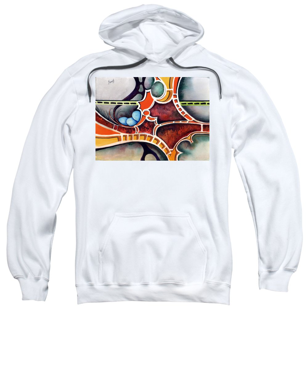 Sweatshirt featuring the painting The Gathering by Sam Sidders