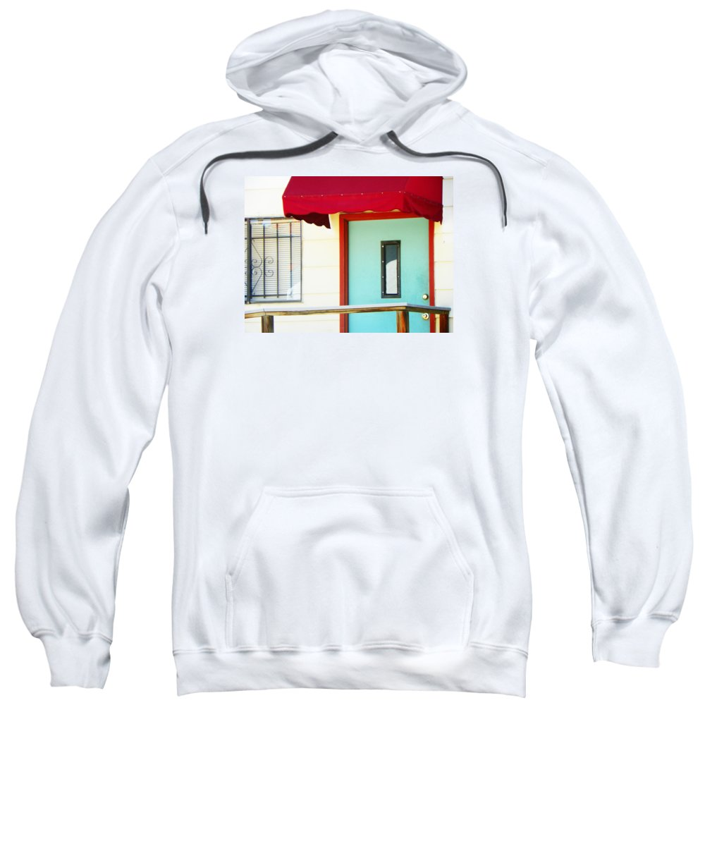 Abstract Sweatshirt featuring the photograph The Green Door by Lenore Senior