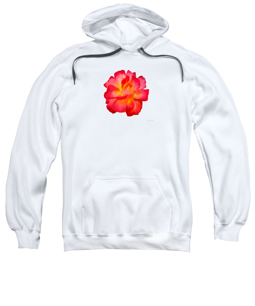 The Rose Patchwork Sweatshirt featuring the digital art The Rose Patchwork by Gabriele Ervin