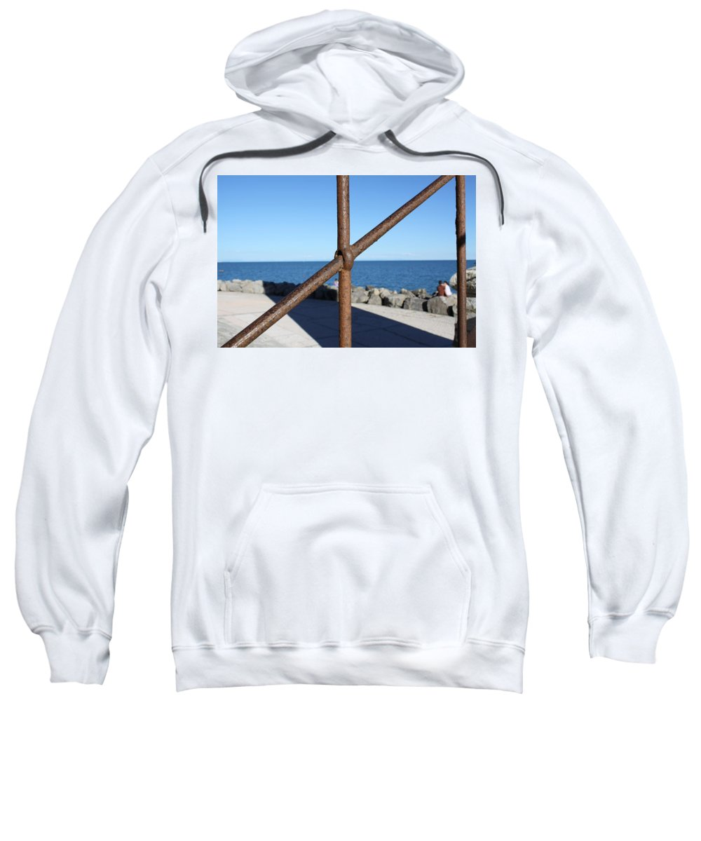 Sea Sweatshirt featuring the photograph The Rust And The Sea by Donato Iannuzzi