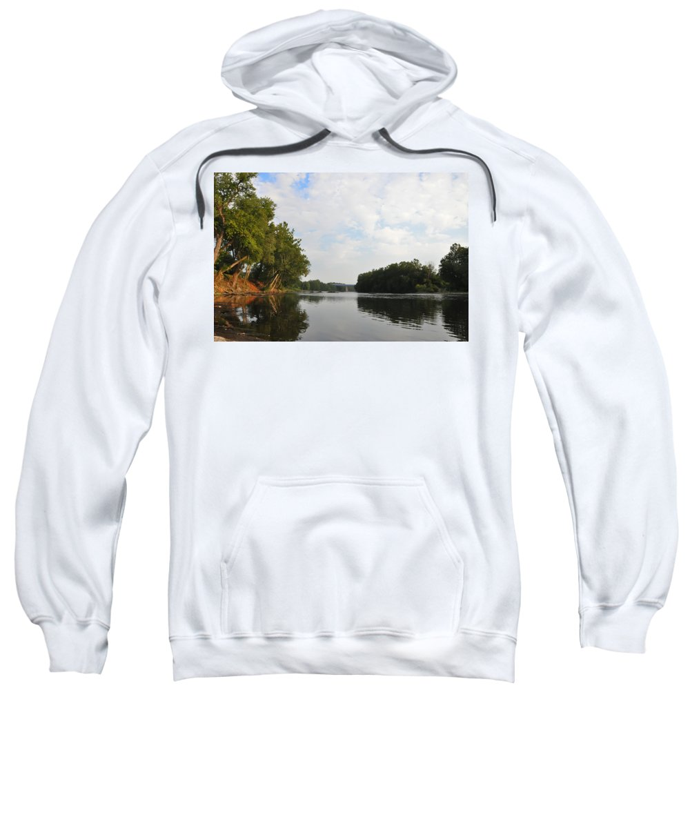 Schuylkill Sweatshirt featuring the photograph The Schuylkill River At West Conshohocken by Bill Cannon
