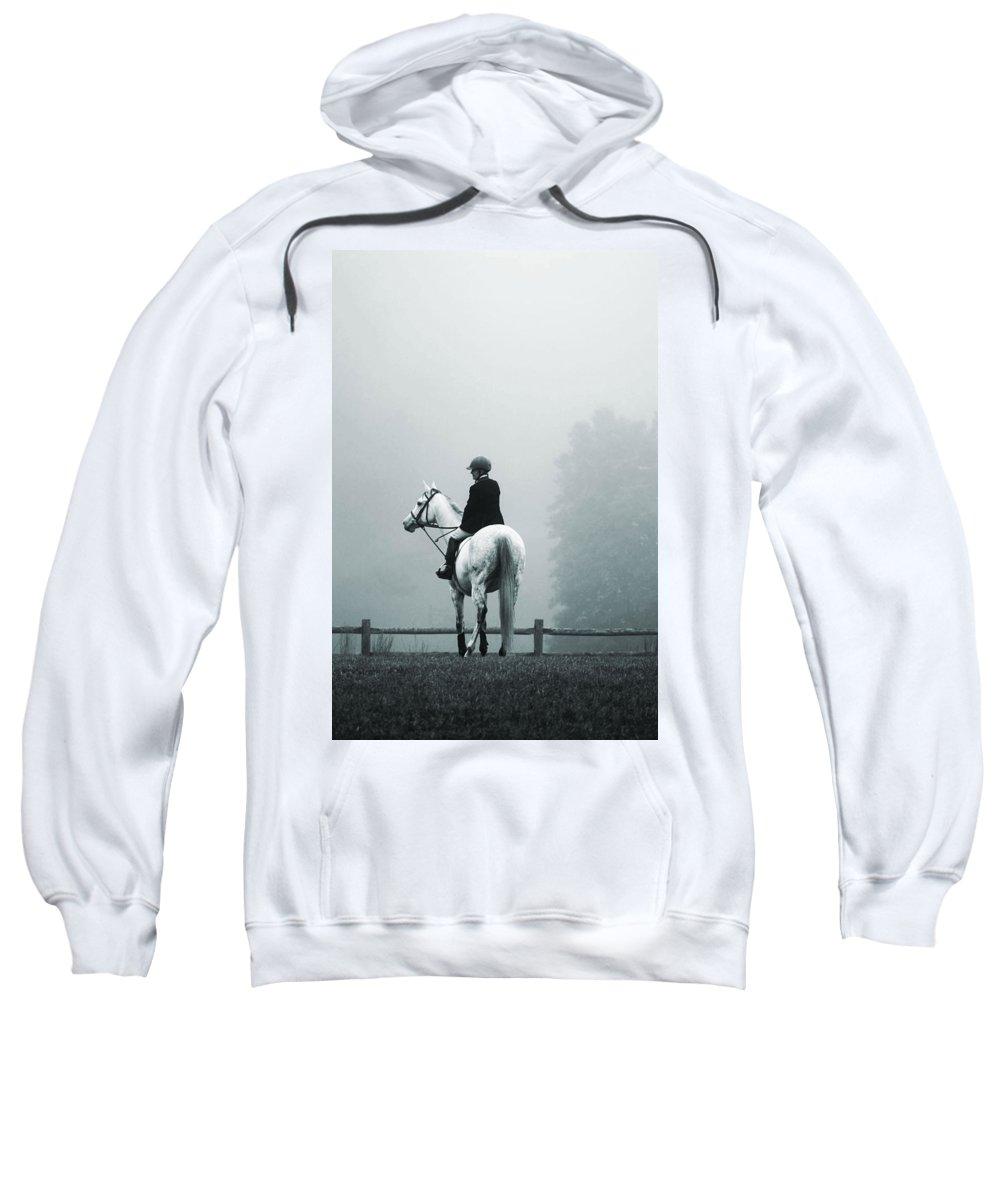 Horse Sweatshirt featuring the photograph The Watchman by Hannah Breidenbach