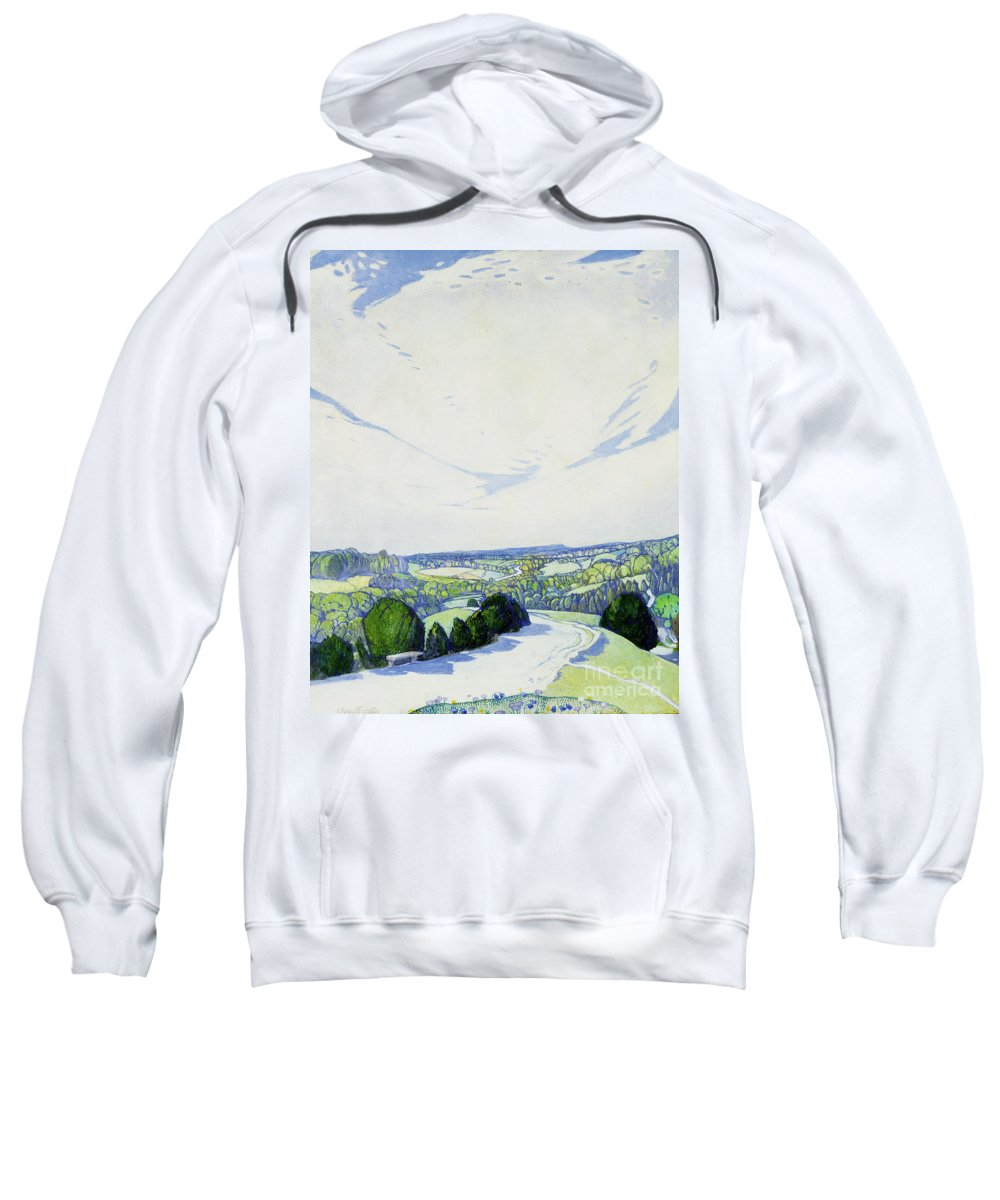 The Winding Road Sweatshirt featuring the painting The Winding Road by Edward Reginald Frampton