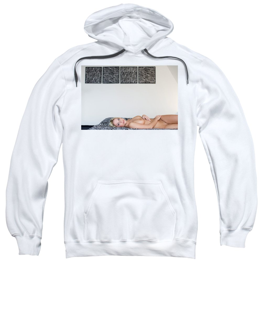 Color Sweatshirt featuring the photograph The Zebra Room by Olivier De Rycke