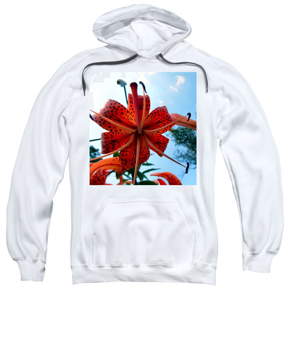 Tiger Sweatshirt featuring the photograph Tigerlily by Art Dingo