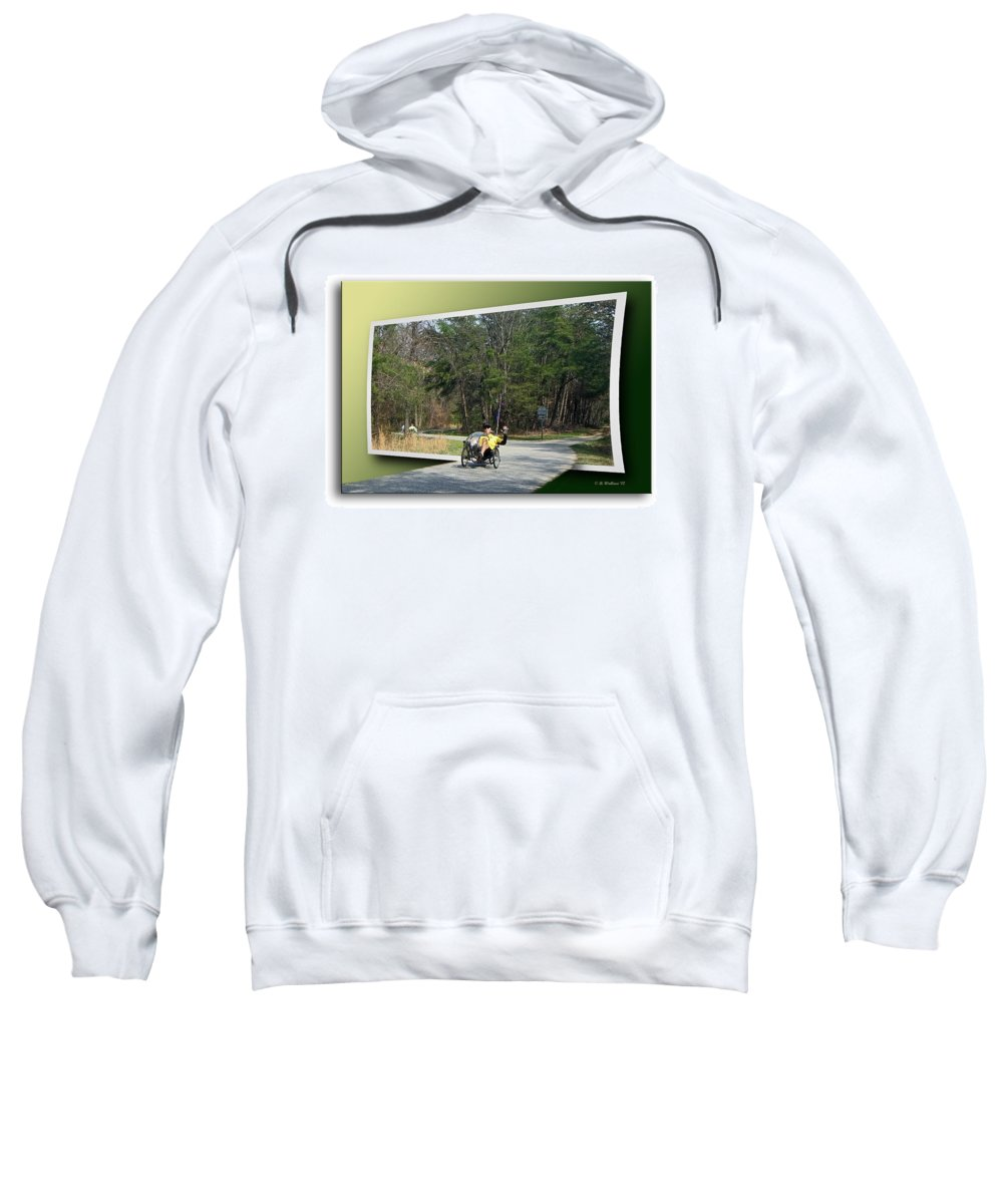 Brian Wallace Sweatshirt featuring the photograph Trike Wave by Brian Wallace