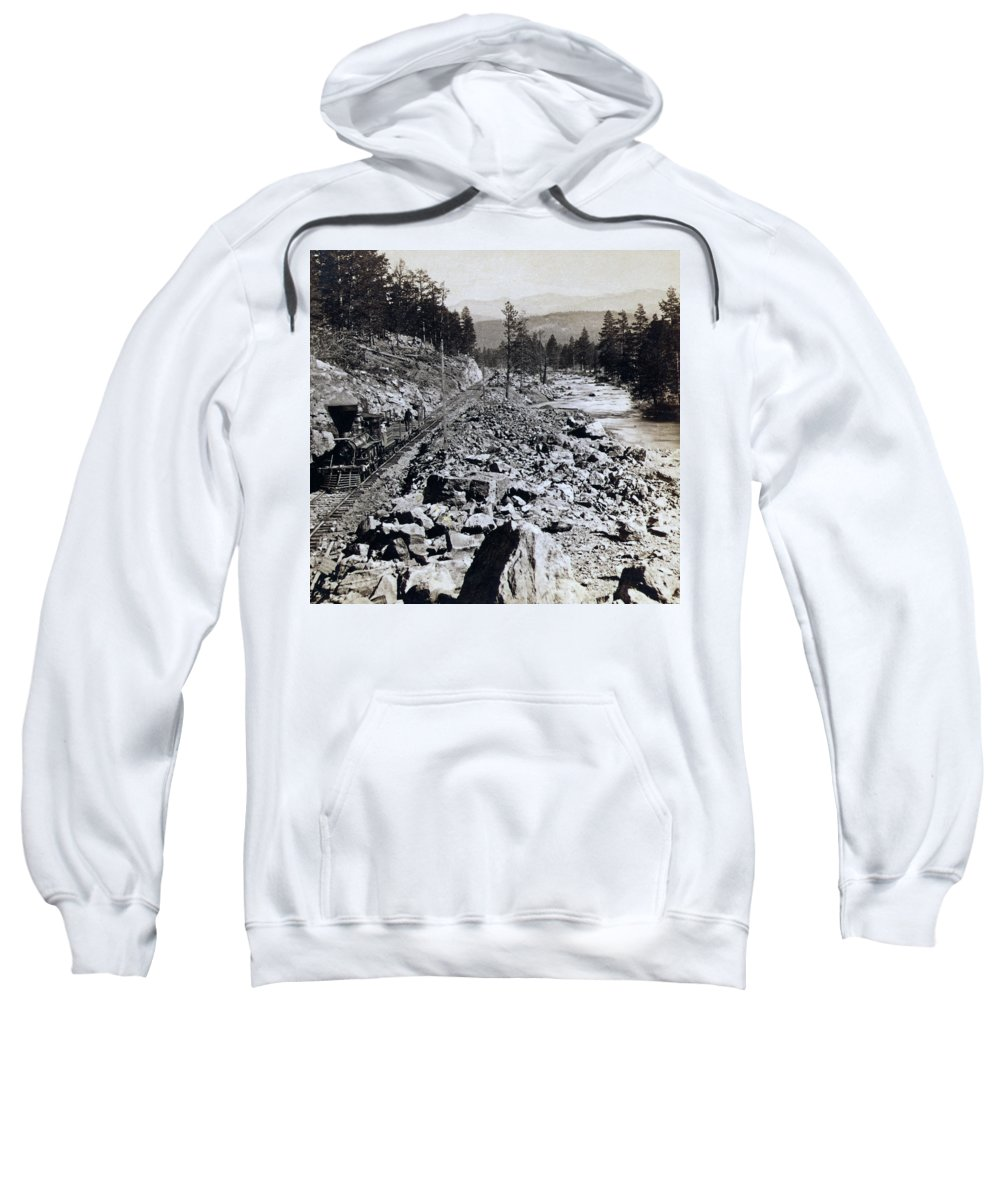 Truckee Sweatshirt featuring the photograph Truckee River - California - C 1865 by International Images