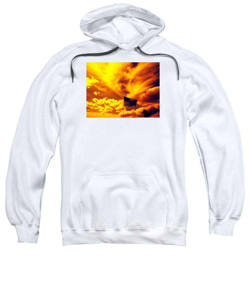 Skies Sweatshirt featuring the photograph Turbulant America by Charles Benavidez