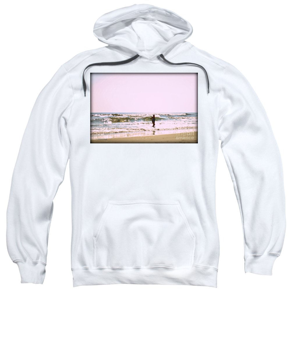 Nature Sweatshirt featuring the photograph Turquoise Bathing Suit by Paulette B Wright