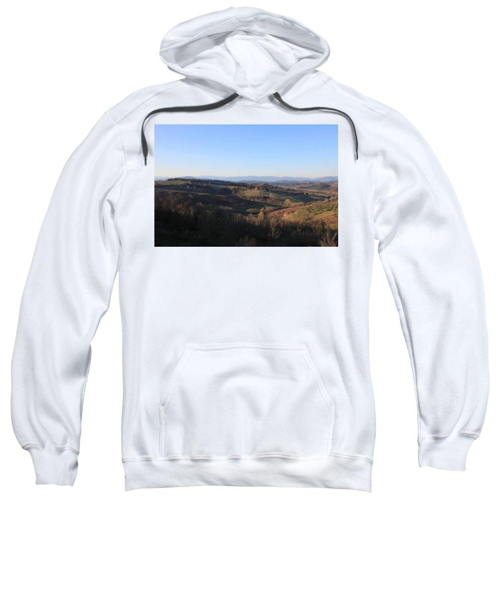Montespertoli Sweatshirt featuring the photograph Tuscany Valleys At Sunset by Francesco Scali