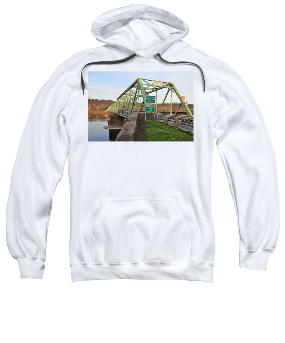 Uhlerstown Sweatshirt featuring the photograph Uhlerstown Frenchtown Bridge by Bill Cannon