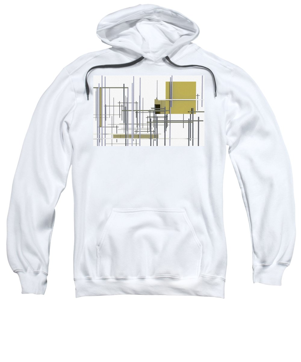 Under Construction Sweatshirt featuring the digital art Under Construction by Richard Rizzo