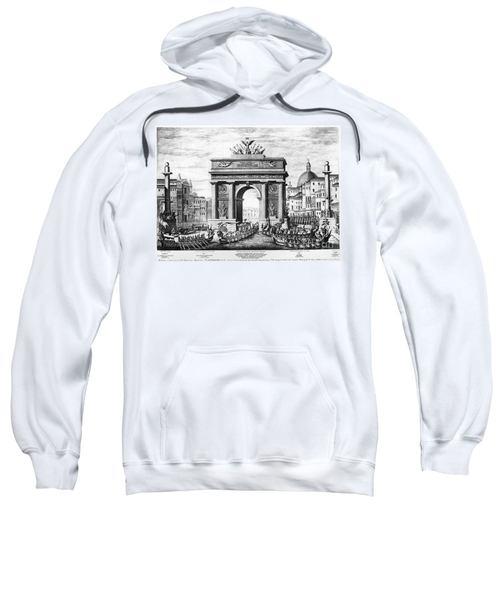 1807 Sweatshirt featuring the photograph Venice: Grand Canal, 1807 by Granger