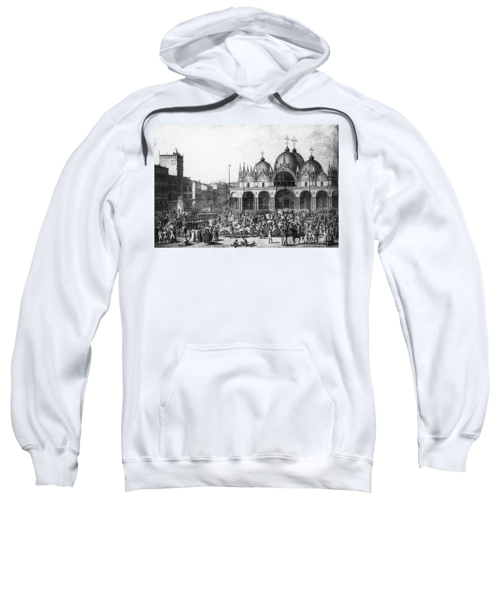 1797 Sweatshirt featuring the photograph Venice: Saint Marks, 1797 by Granger