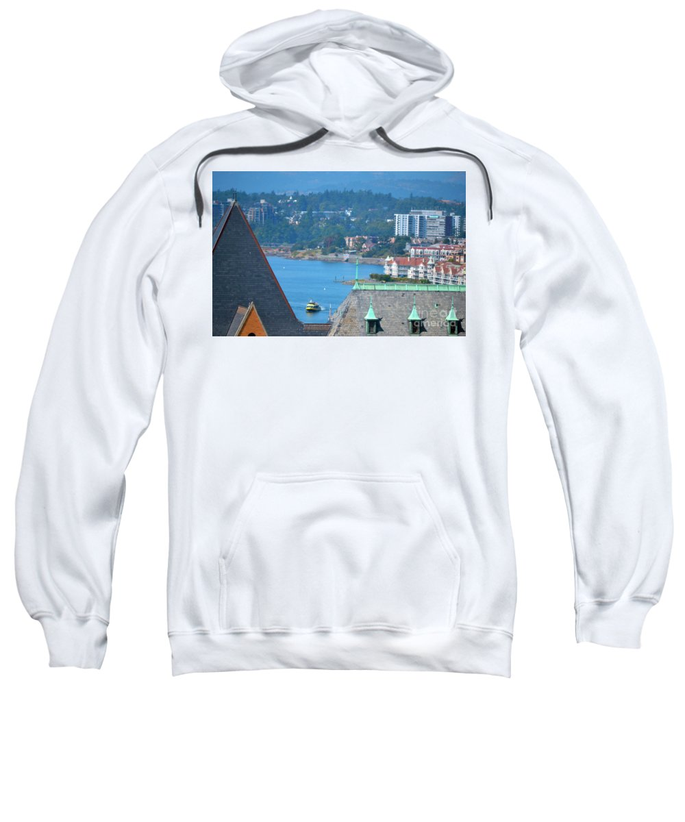 British Columbia Sweatshirt featuring the photograph View From A Window by Traci Cottingham