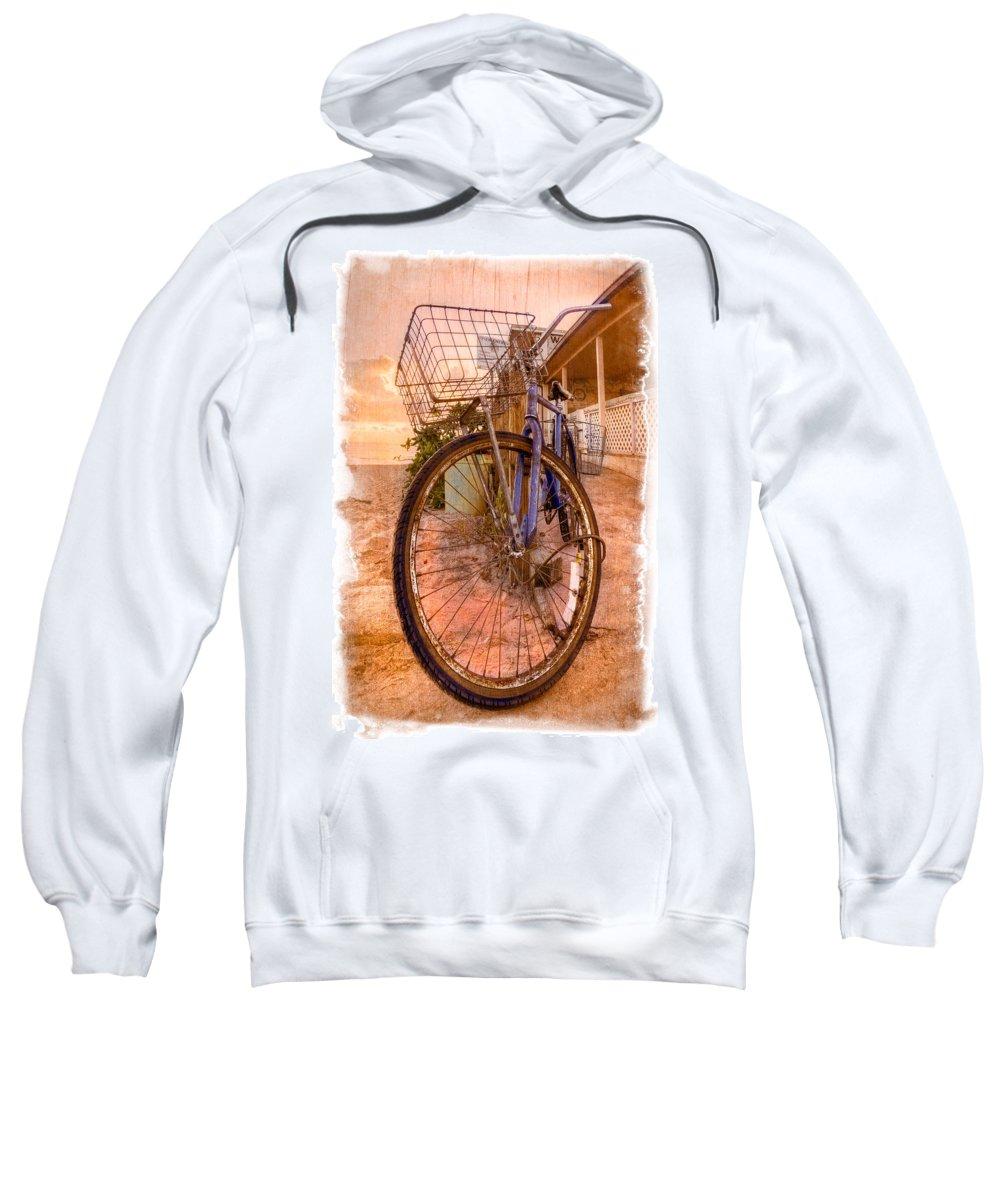 Delray Sweatshirt featuring the photograph Vintage Bicycle by Debra and Dave Vanderlaan