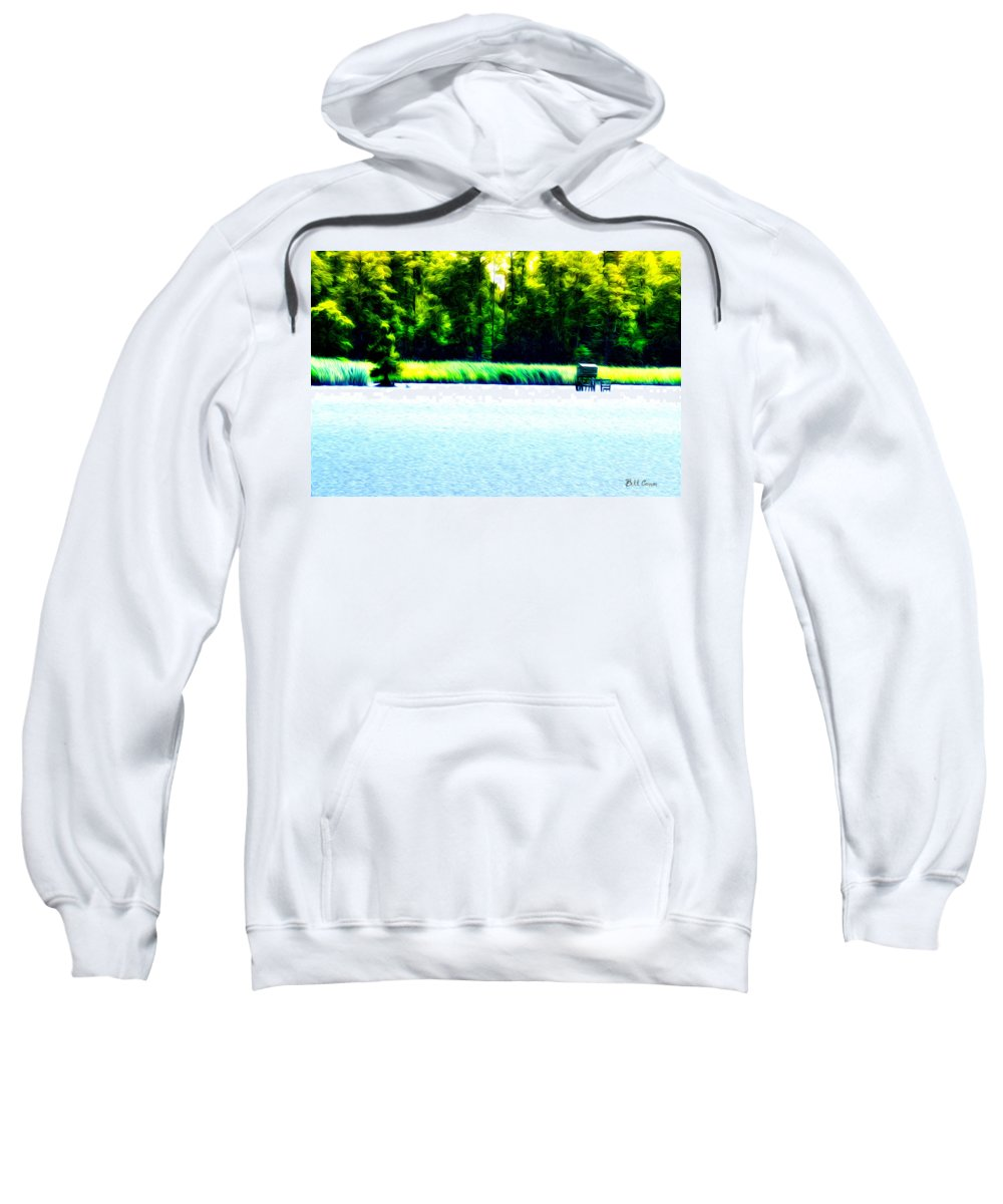 Virginia Marsh Sweatshirt featuring the photograph Virginia Marsh by Bill Cannon